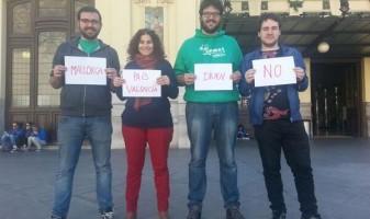 "Amb companys de JEN-PSM i Gazte Abertzaleak dient ""No a les prospeccions"""